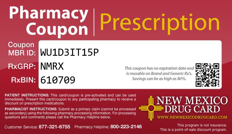 New Mexico Drug Card - Free Prescription Drug Coupon Card